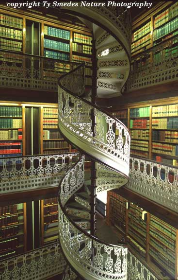 The spiral staircase in the Law Library of the Iowa State Capitol